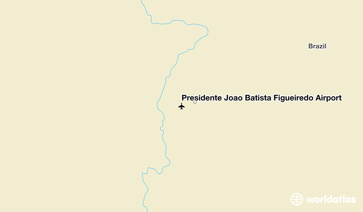 Presidente João Batista Figueiredo Airport location on a map