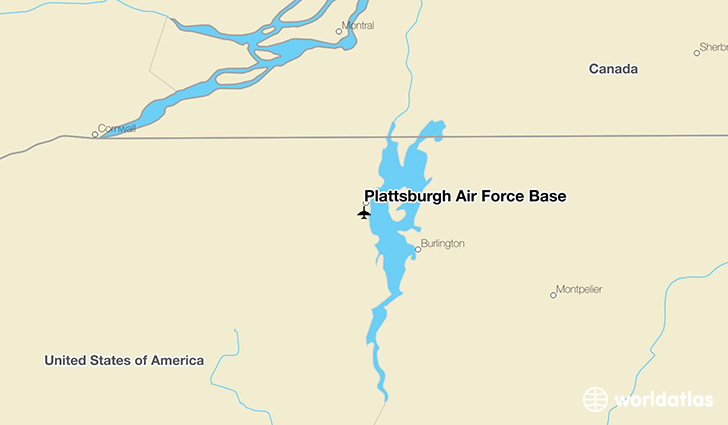 Plattsburgh Air Force Base location on a map