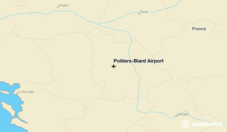 Poitiers–Biard Airport location on a map