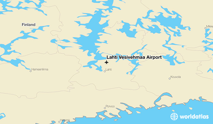 Lahti Vesivehmaa Airport location on a map