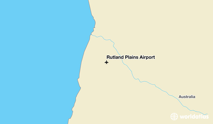 Rutland Plains Airport location on a map