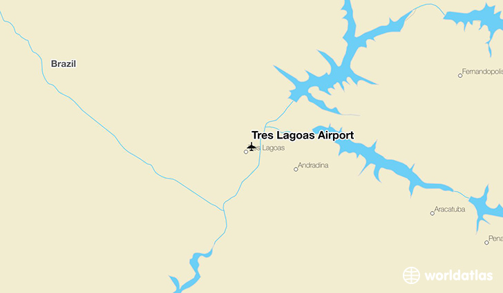 Três Lagoas Airport location on a map