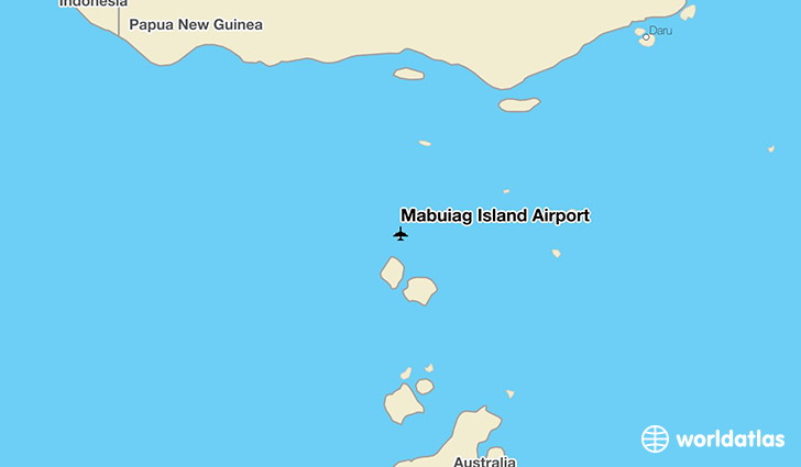 Mabuiag Island Airport location on a map