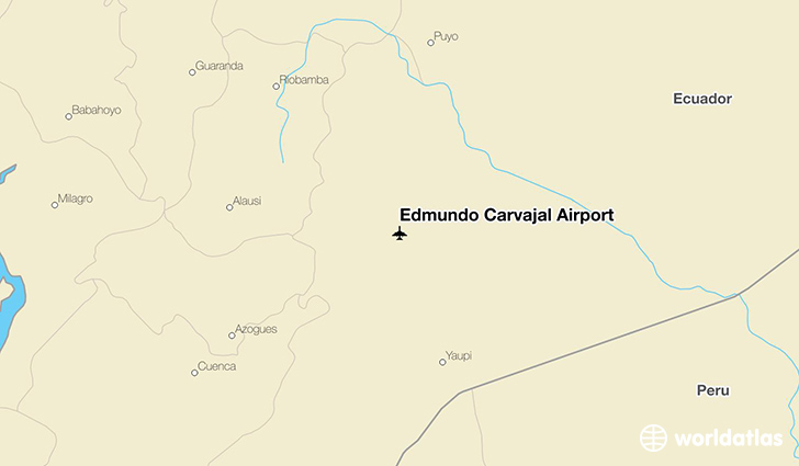 Edmundo Carvajal Airport location on a map