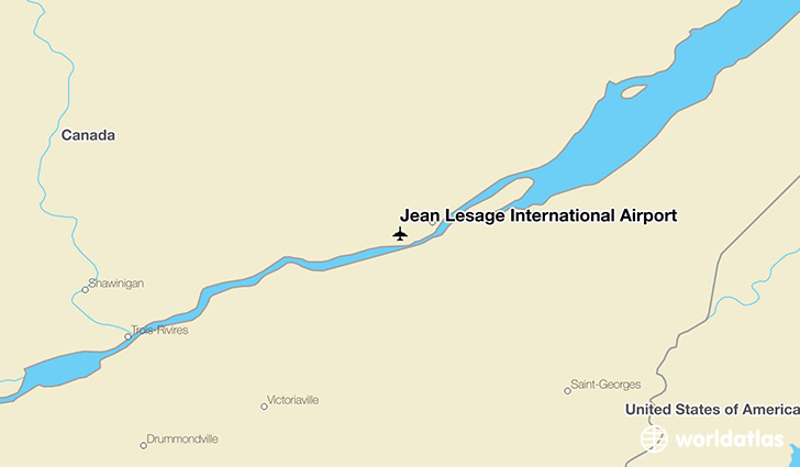 Jean Lesage International Airport location on a map