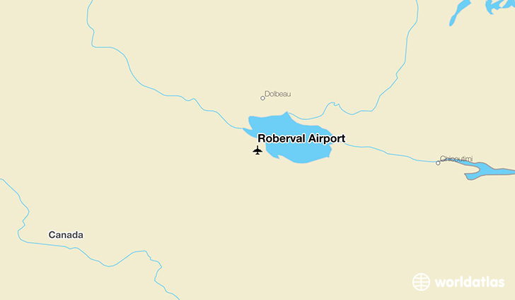 Roberval Airport location on a map