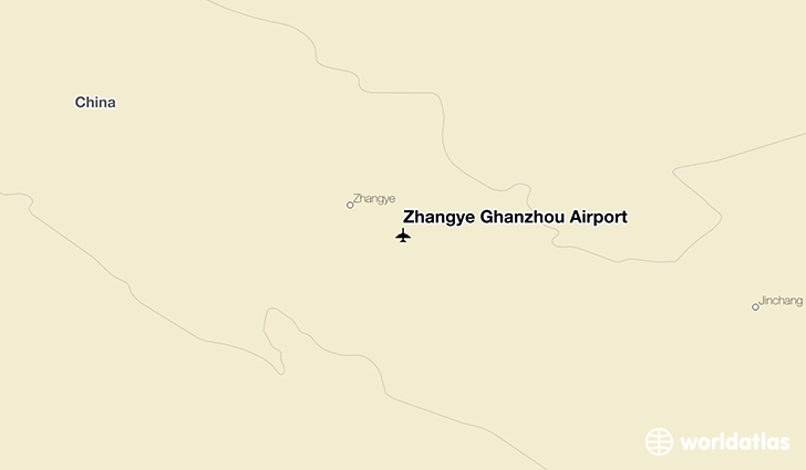 Zhangye Ghanzhou Airport location on a map