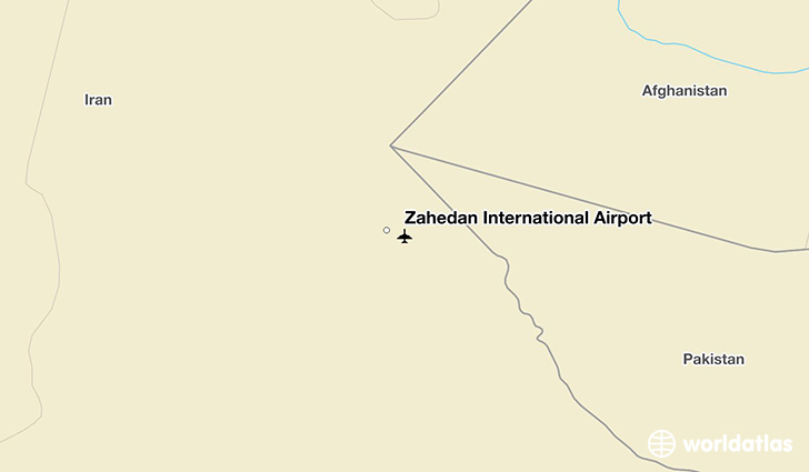 Zahedan International Airport location on a map