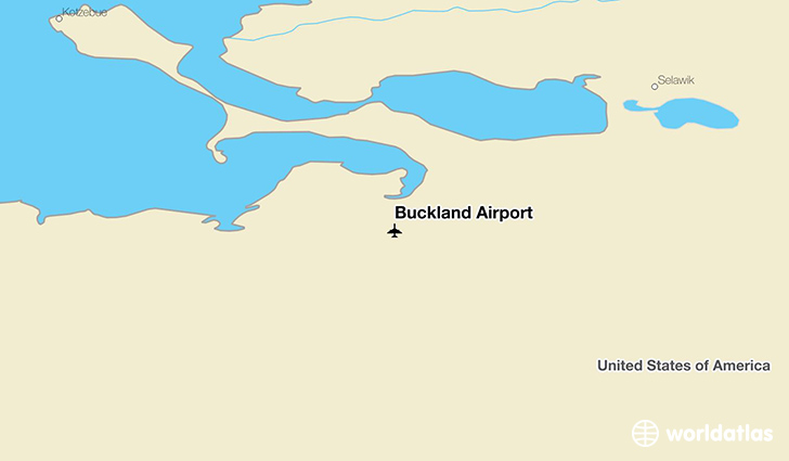 Buckland Airport location on a map