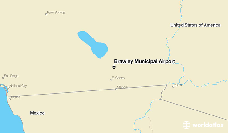 Brawley Municipal Airport location on a map