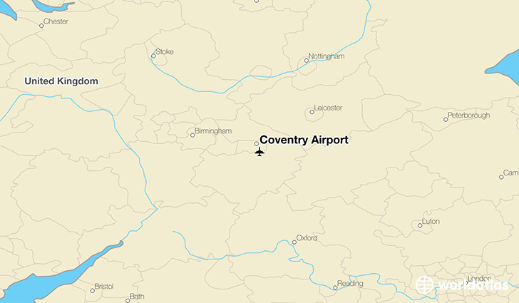 Coventry Airport location on a map