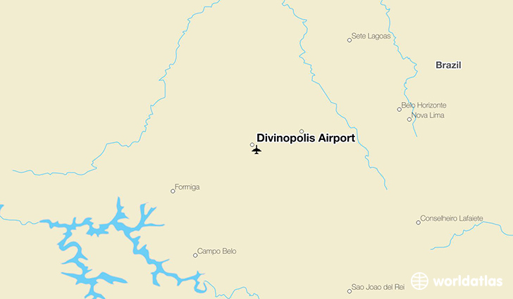 Divinópolis Airport location on a map