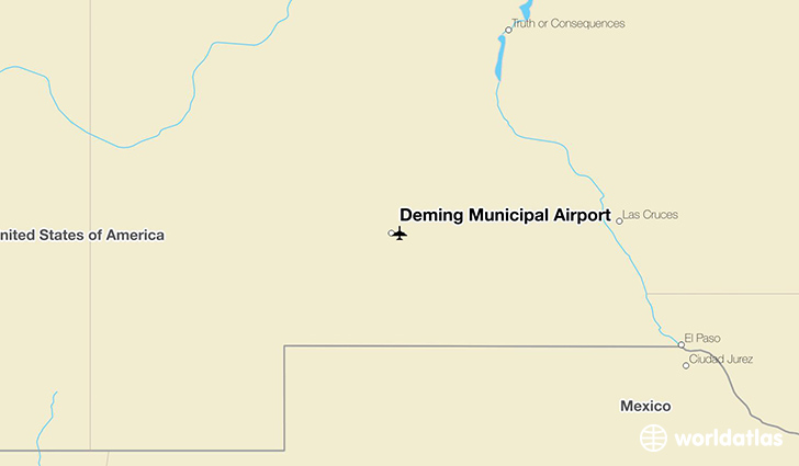 Deming Municipal Airport location on a map