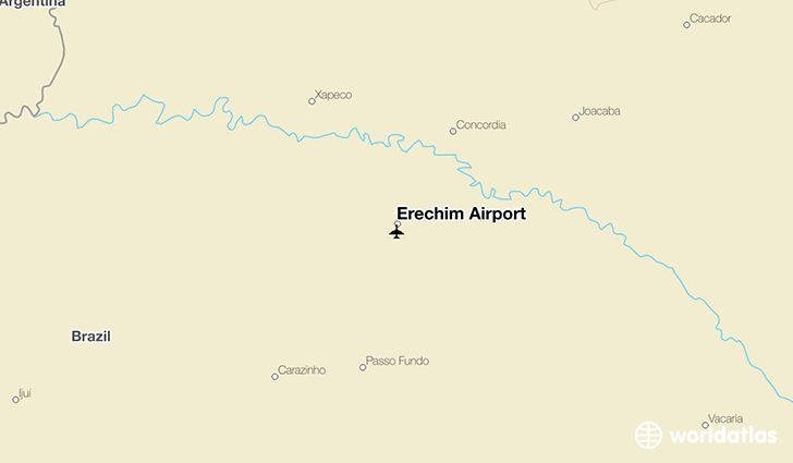Erechim Airport location on a map