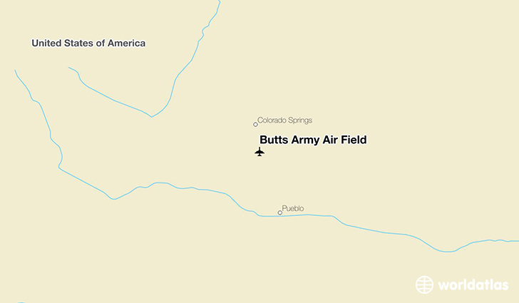 Butts Army Air Field location on a map