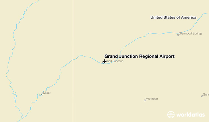Grand Junction Regional Airport location on a map