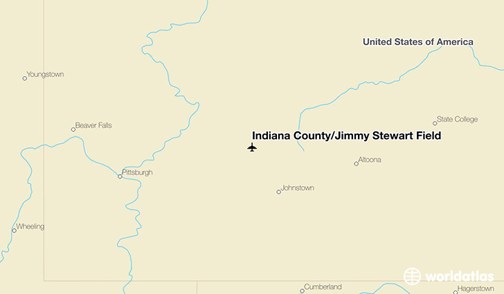 Indiana County/Jimmy Stewart Field location on a map