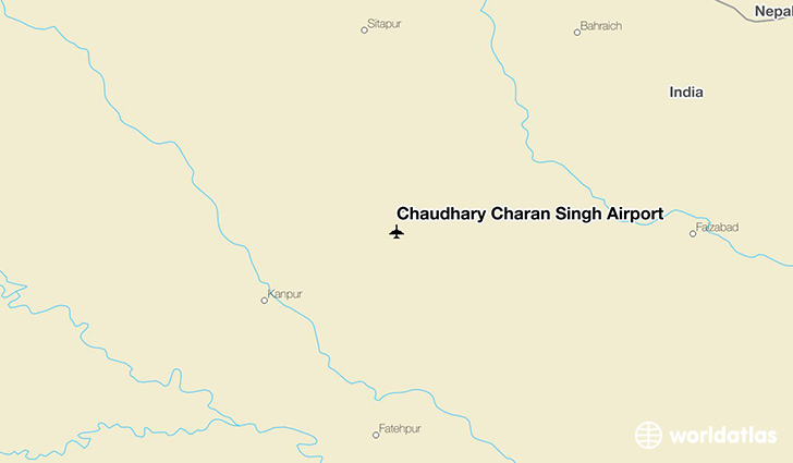 Chaudhary Charan Singh Airport location on a map
