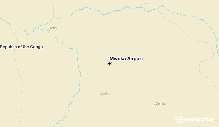 Mweka Airport location on a map