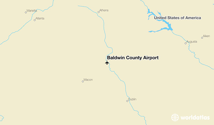 Baldwin County Airport location on a map