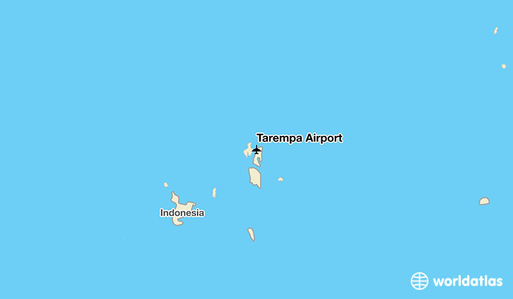 Tarempa Airport location on a map