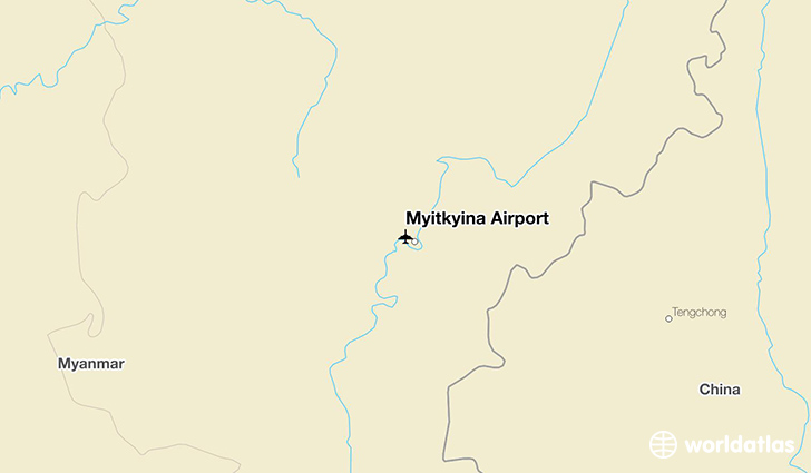 Myitkyina Airport location on a map