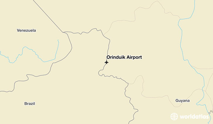 Orinduik Airport location on a map