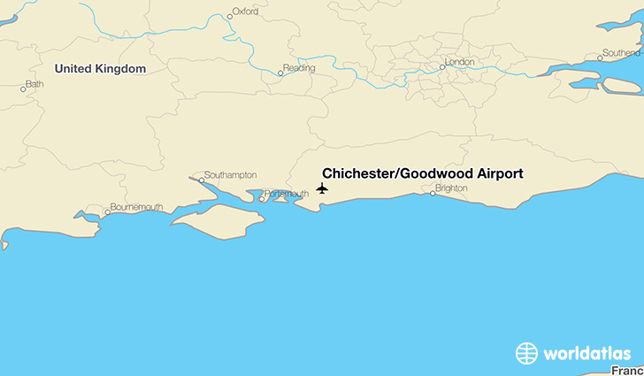 Chichester/Goodwood Airport location on a map