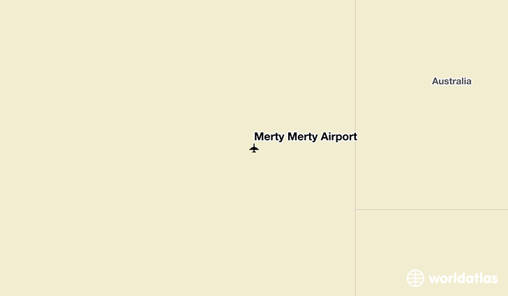 Merty Merty Airport location on a map