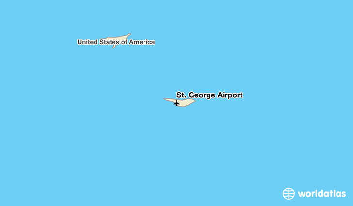 St. George Airport location on a map