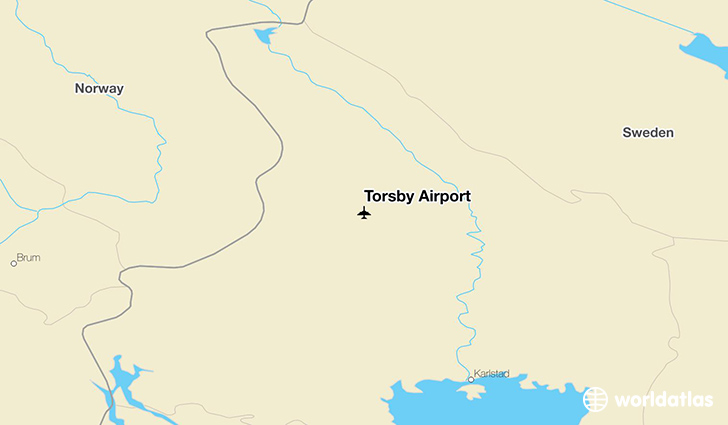 Torsby Airport location on a map
