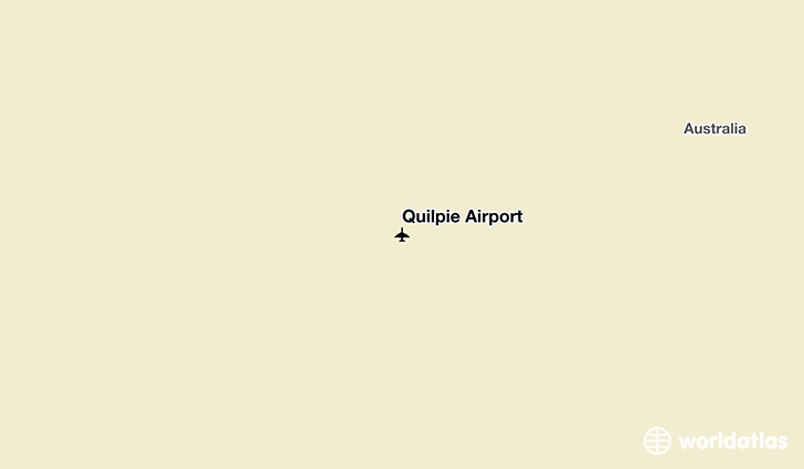 Quilpie Airport location on a map
