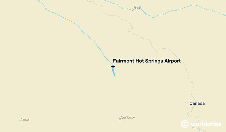 Fairmont Hot Springs Airport location on a map