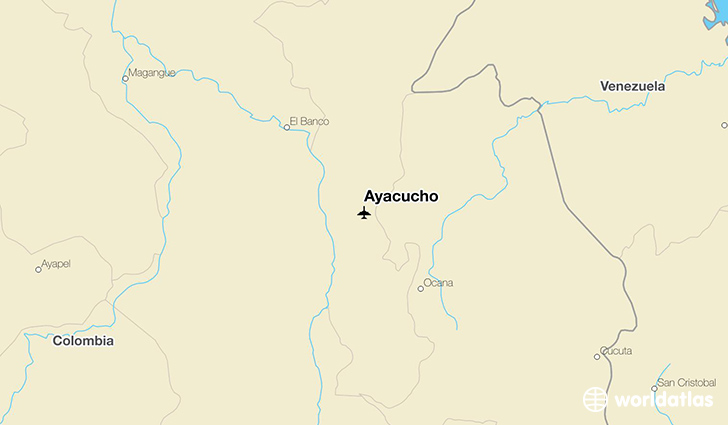 Ayacucho location on a map