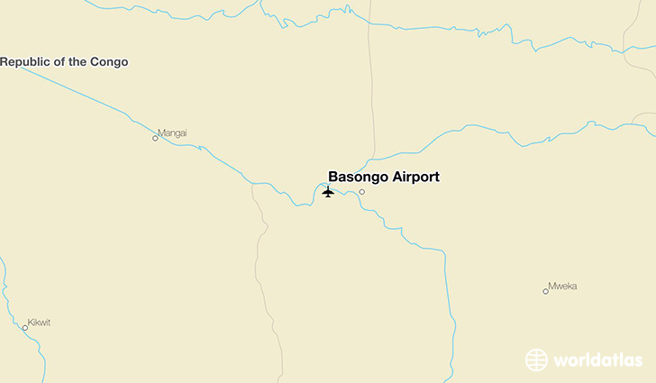 Basongo Airport location on a map