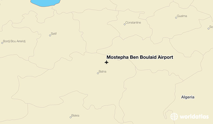 Mostépha Ben Boulaid Airport location on a map