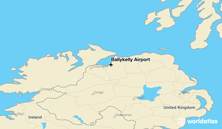 Ballykelly Airport location on a map