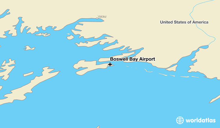 Boswell Bay Airport location on a map