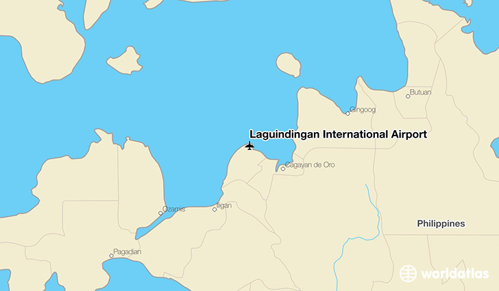 Laguindingan International Airport location on a map
