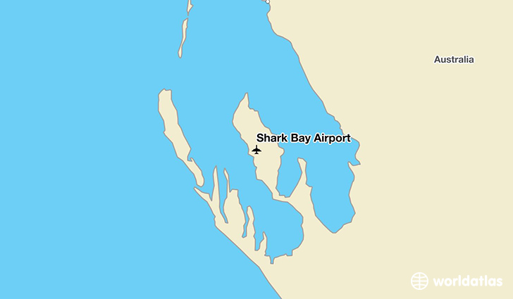 Shark Bay Airport location on a map