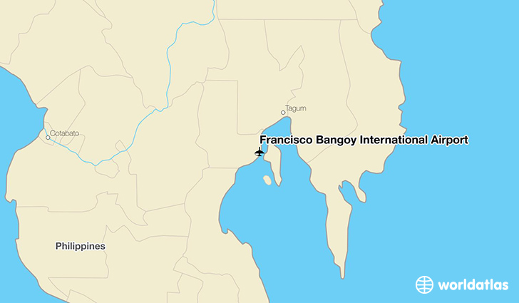 Francisco Bangoy International Airport location on a map