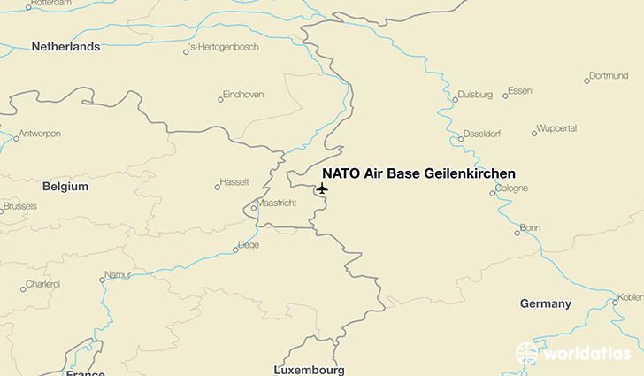 NATO Air Base Geilenkirchen location on a map