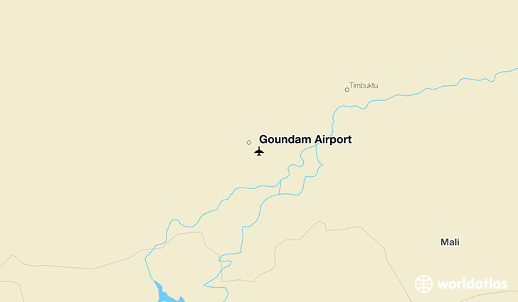 Goundam Airport location on a map