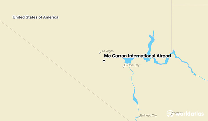 Mc Carran International Airport location on a map