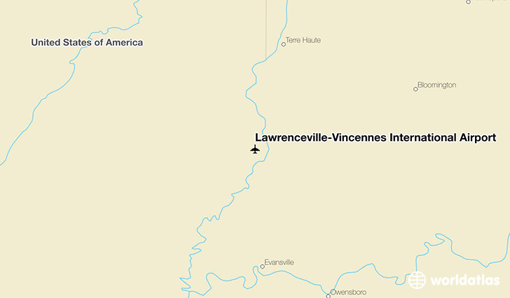Lawrenceville-Vincennes International Airport location on a map