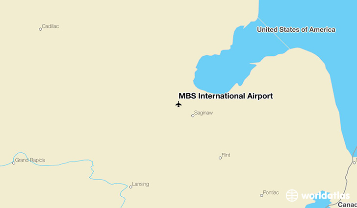 MBS International Airport location on a map