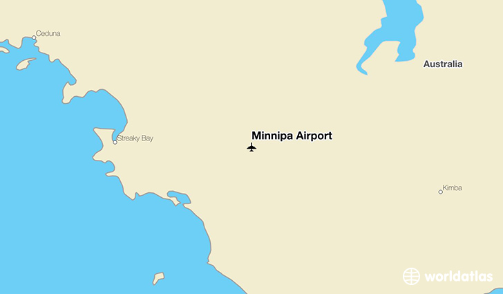 Minnipa Airport location on a map