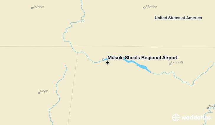 Muscle Shoals (AL) United States  city images : Muscle Shoals Regional Airport MSL WorldAtlas