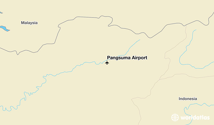 Pangsuma Airport location on a map