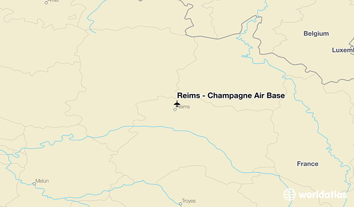 Reims – Champagne Air Base location on a map